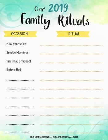 Family 2019 Rituals Worksheet