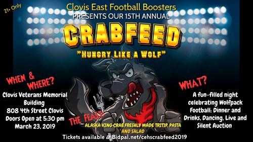 CE Football Crab Feed Flyer