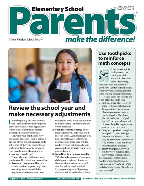 Page 1 January Parents Newsletter