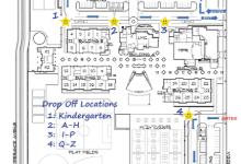 Drop-off locations map
