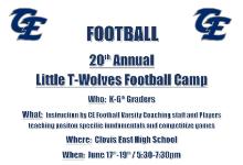 Little T-Wolves Football Camp 2019