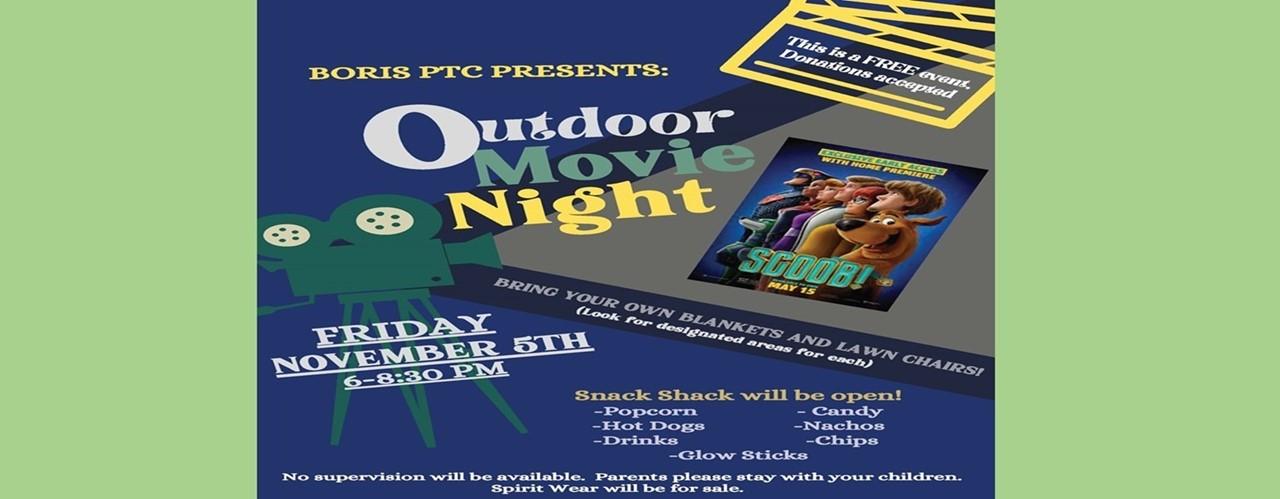 Movie Night SCOOB Nov 5th 6-830 no cost