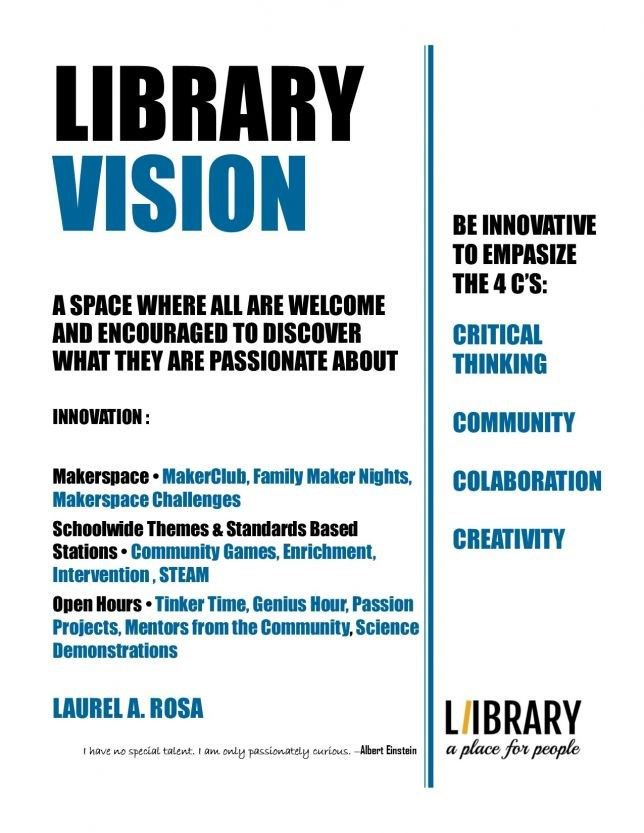 The Library is a space where all are welcome and encourages to discover what they are passionate about.
