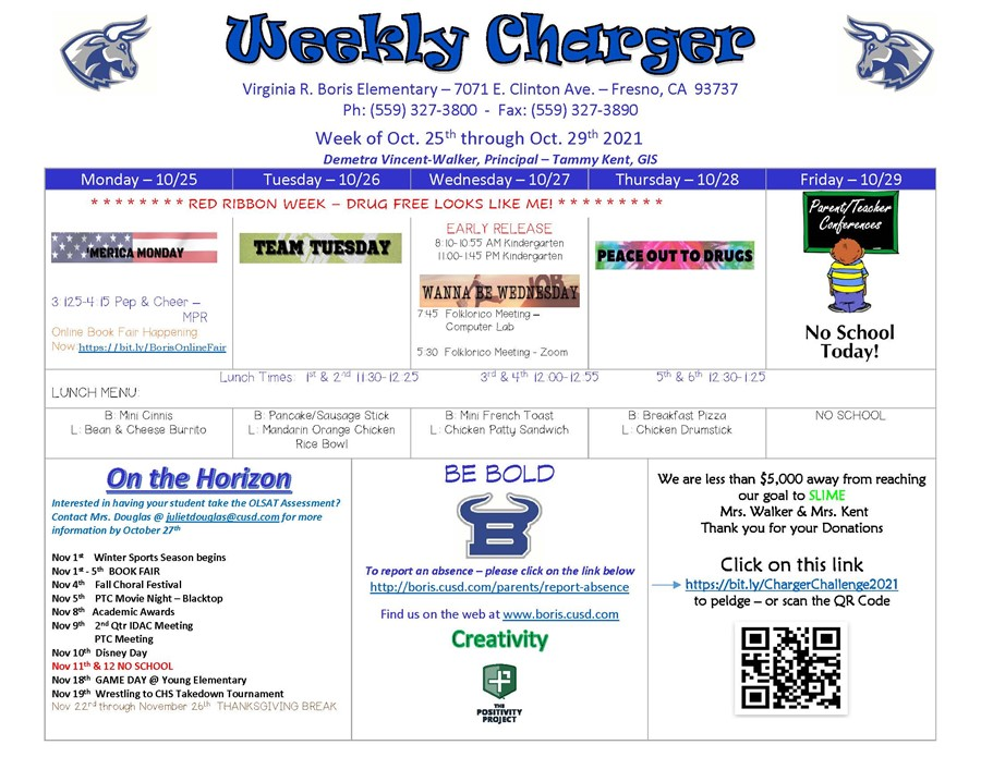Weekly Charger 10/25/21
